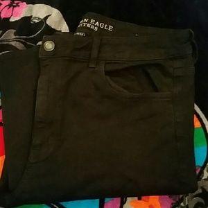 AEO Black Jeans Size 18L